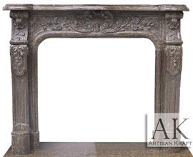 Bella Vista Brown Marble Mantel