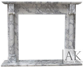 Barrington Italian Arabesco Marble Mantel