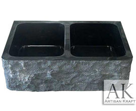 Black Marble Natural Farmhouse Sink