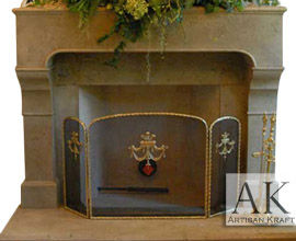 Chantel Cast Stone Mantel Fireplace