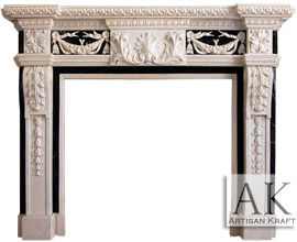 Delaware  Marble Fireplace