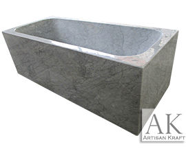 Italian Carrera Marble Rectangular Bathtub