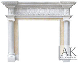 Carved Ionic Albany Antique Mantel