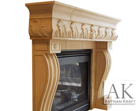 Naples Cast Stone Fireplace Surround