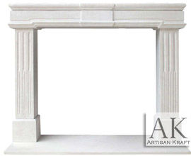 Newport Limestone Fireplace Surround