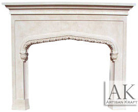 Rose Tudor Fireplace Mantel