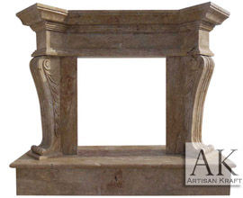 Travertine Olivia Fireplace Surround