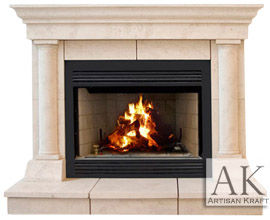 Tuscan Cast Stone Mantel Fireplaces