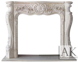 Victoria Cream Marble Fireplace