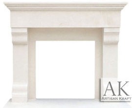Winnetka Limestone Mantel Surround