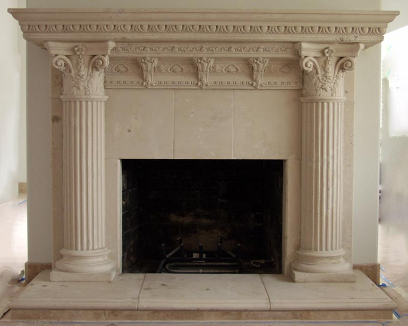 Fireplace gallery artisan kraft for Faux marble fireplace mantels