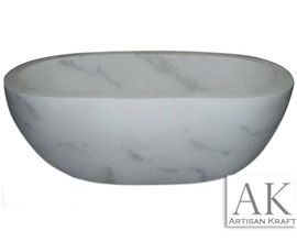 Angel White Double Ended Oval Tub