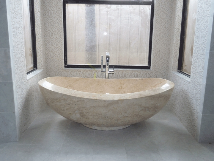 Bath Tub Design Ideas Gallery Marble Bathtub Carved From Marble. This Is A  Picture Of A Free Standing Luxury Marble Bathtub Design Idea.