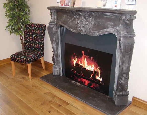 Black Marble Fireplace Mantel Fireplaces