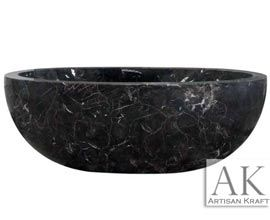Oval Coffee Marble Tub