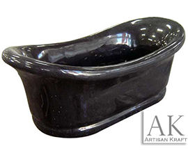Absolute Black Marble Slipper Bath Tub