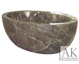 Dark Emperador Spanish Marble Bath Tub