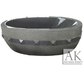 Grey Granite Freestanding Tub