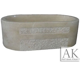 Marble Beige Double Ended Oval Tub