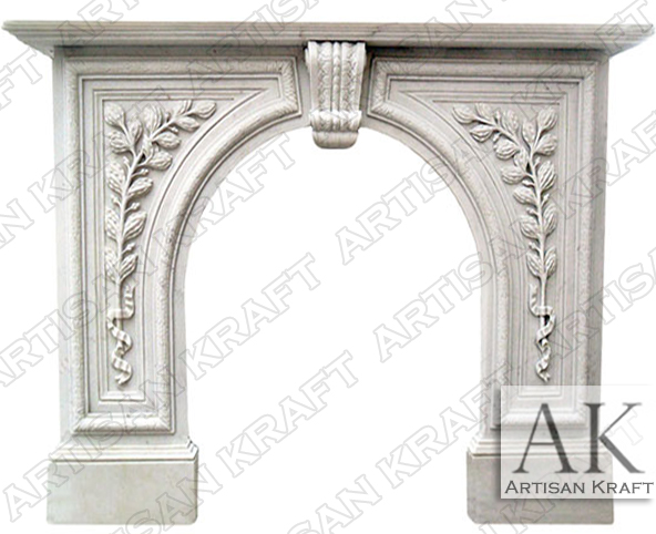 Arched-Fireplace-Greenwich-Mantel-White-Marble-Antique