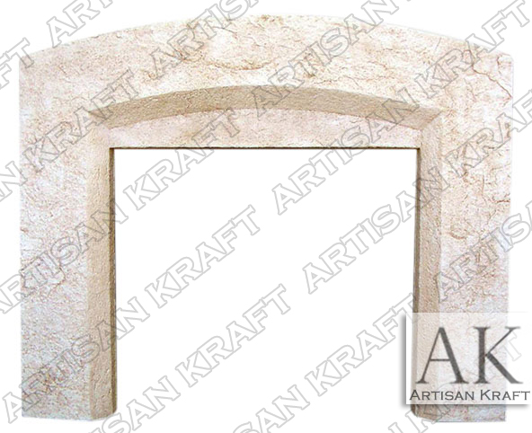 Beveled-Arch-Cast-Stone-Fireplace-Mantel