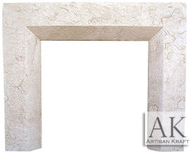 Beveled Cast Stone Fireplace Mantel