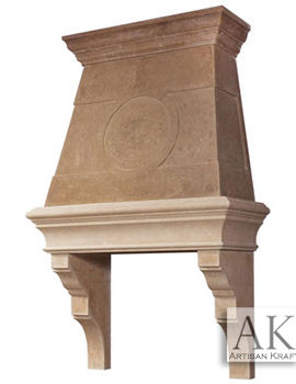 Bradbury Range Kitchen Hood Cast Stone