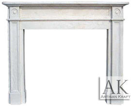 English Regent 2 White Fireplace