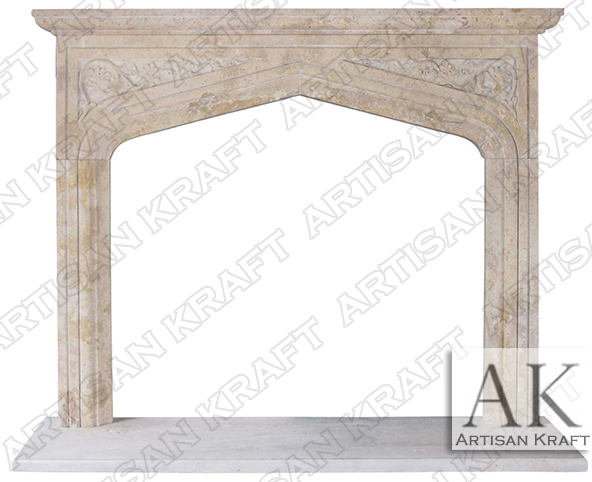 English-Tudor-Travertine-Fireplace-Surround