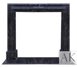 Francisco Marble Fireplace Black Mantel