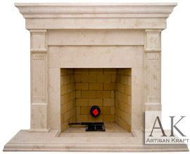 Bradford Cast Stone Mantel Fireplace