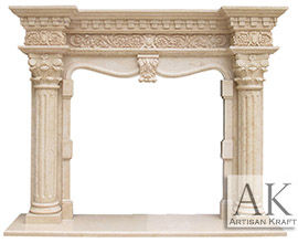 Grand Richmond Marble Column Fireplace