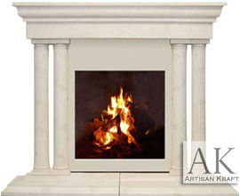 Grand Tuscan Cast Stone Mantel