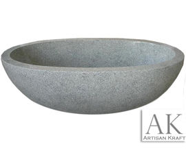 Gray Granite Oval Bathtub