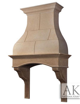 Hampton Kitchen Range Hood Cast Stone