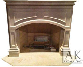 Lancaster Cast Stone Fireplace