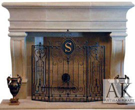 Leon Cast Stone Mantel Fireplace
