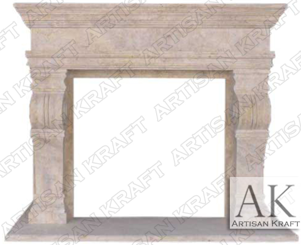 Melrose-Travertine-Fireplace-Mantels