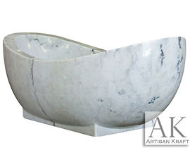 Slipper White Moon Marble Tub