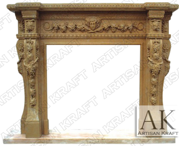 Napa-Valley-Marble-Fireplace