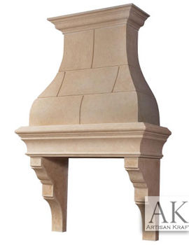 Paris Stone Kitchen Range Hood Vent Cover