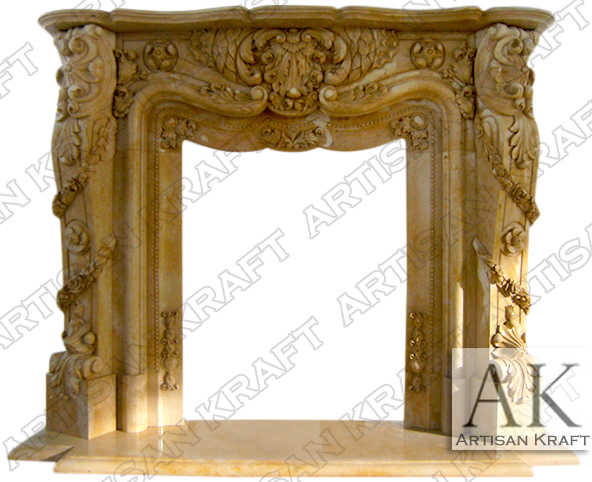 Pasadena-Marble-Fireplace-French-Mantel