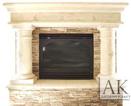 Precast Column Surround Texas Fireplace