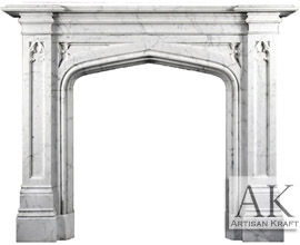 Gothic Tudor English Fireplace Mantel