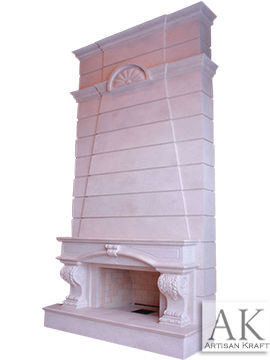 Sheffield Marble Overmantel Fireplace