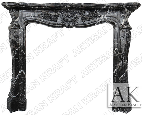 Pleasing Marble Fireplace Black Mantel Surround Antique French Download Free Architecture Designs Boapuretrmadebymaigaardcom