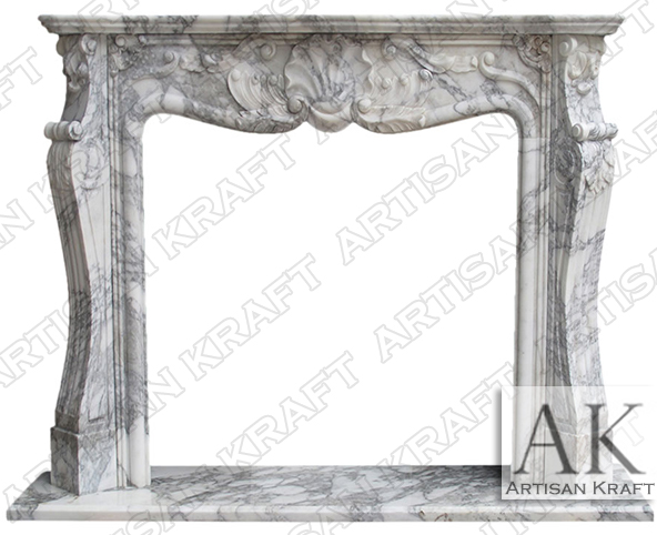 St-Louis-Italian-Arabesco-Marble-Fireplace
