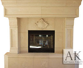 Tucson Cast Stone Fireplace
