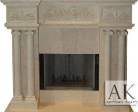 Tuscany Marble Fireplace Surround