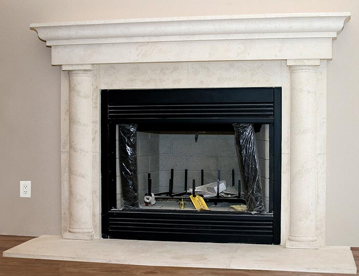 Named After Milwaukee Wisconsin The Cast Stone Fireplace Mantel Is A Large Over With Panels Wi Fireplaces Surrounds